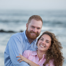 Beach Portrait by Craig Lybbert - People Couples ( couple, ocean, beach, couples, beach portrait,  )