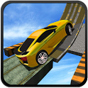 Crazy Sky Drive Car Track Mania Simulation icon