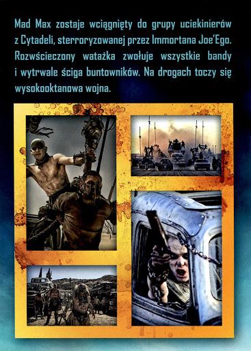 Tył ulotki filmu 'Mad Max: Na Drodze Gniewu'