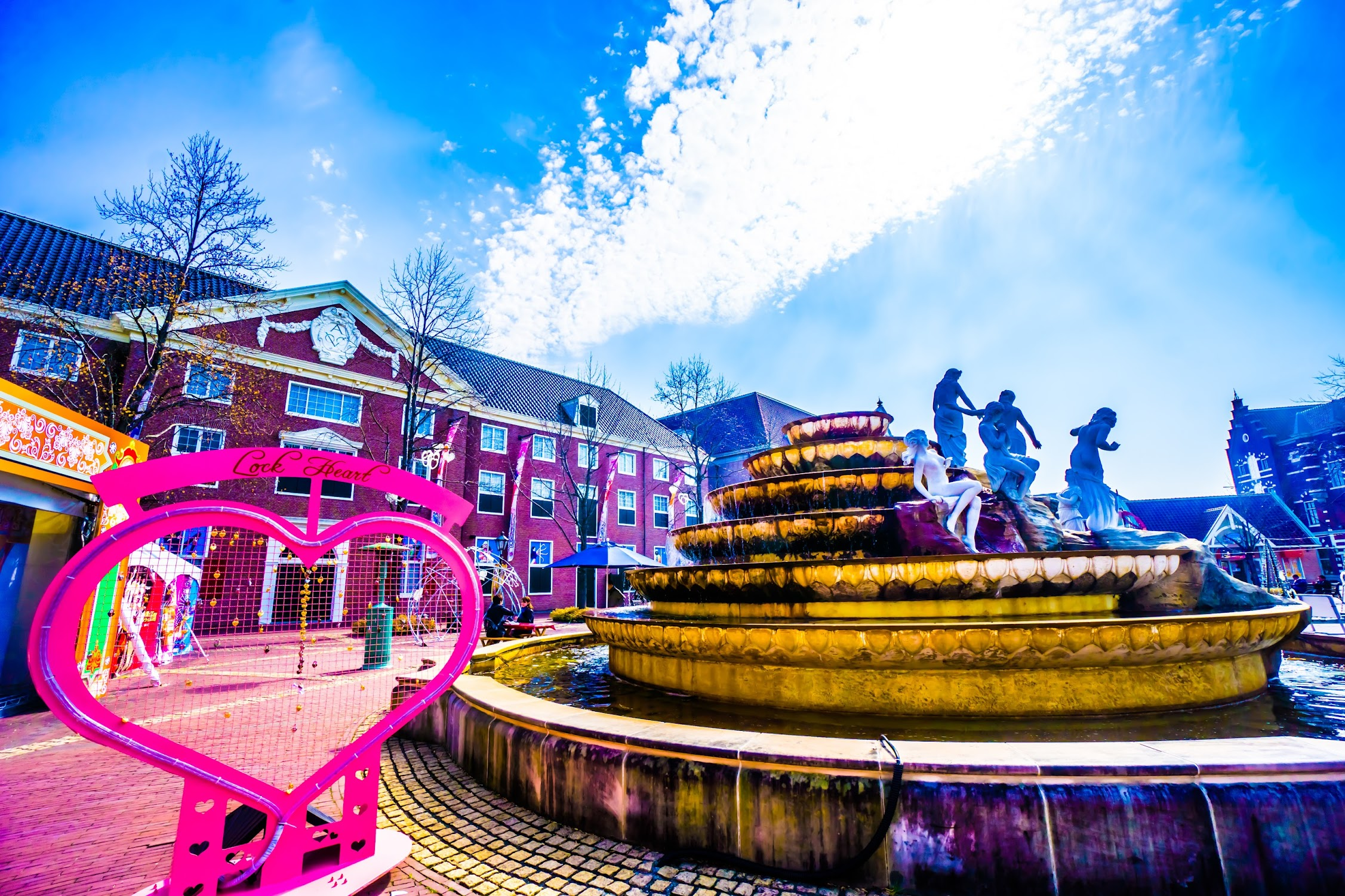 Huis Ten Bosch Fountain square