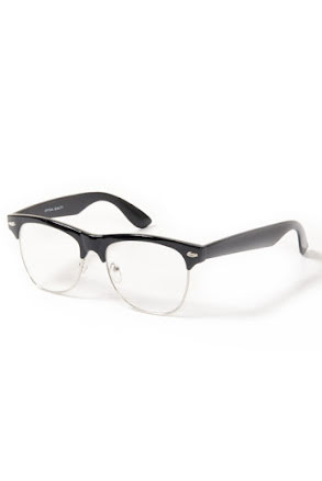 Retro XL svart, klarglas