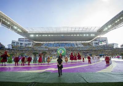 Superbe cérémonie d'ouverture au Brésil!