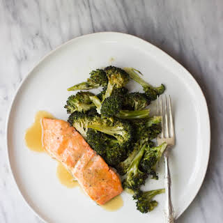 Maple Mustard Salmon + Roasted Broccoli.