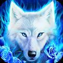 White Wolf Live Wallpaper icon