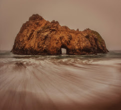 Photo: The Lonely Rock Island  Here is a new photo from a moody day here in Big Sur. The sand was very soft and when I put my tripod down, it sank down a bit. I would twist and turn the legs so they sank a little deeper and was more stable.  #holykaw