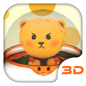 Cartoon Cheetah 3D Theme