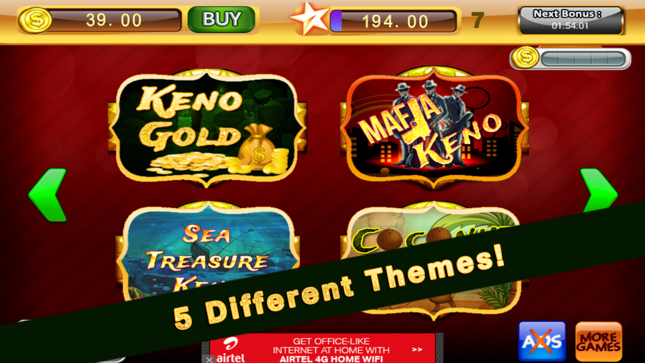 9 lucky keno numbers