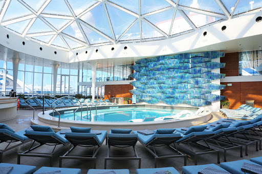 The adults-only Solarium is a quiet retreat for those looking to relax, complete with the Spa Cafe, pool and two whirlpools.