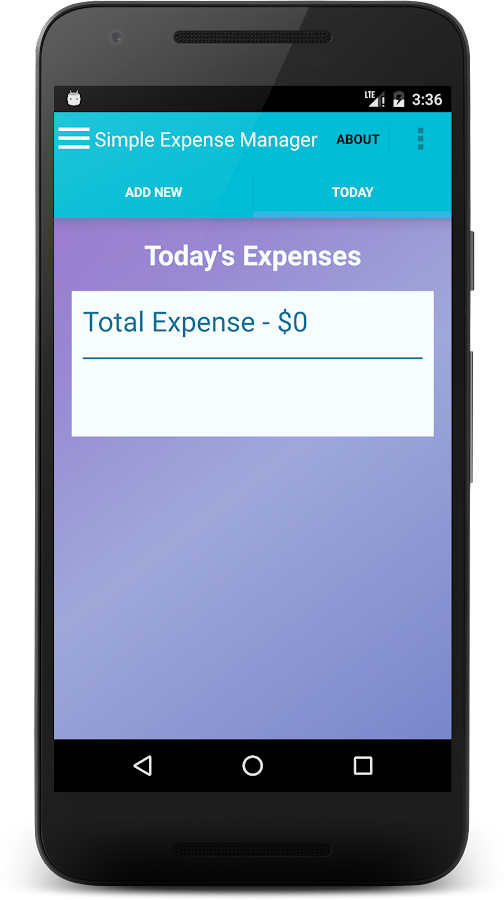 Simple Expense Manager- screenshot