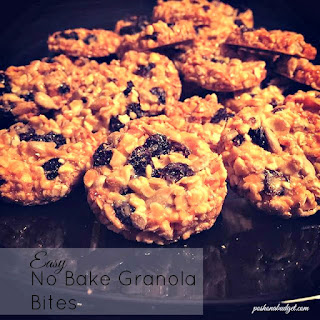 Easy No Bake Granola Bites