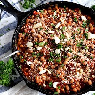 Spicy White Bean Tomato Skillet.