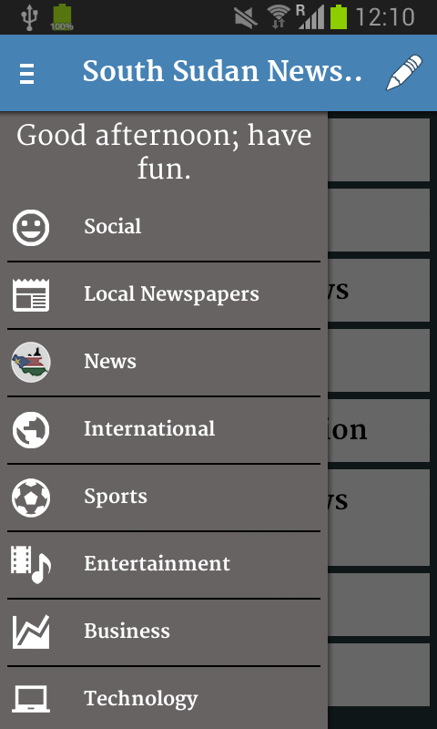 South Sudan Newspapers- screenshot