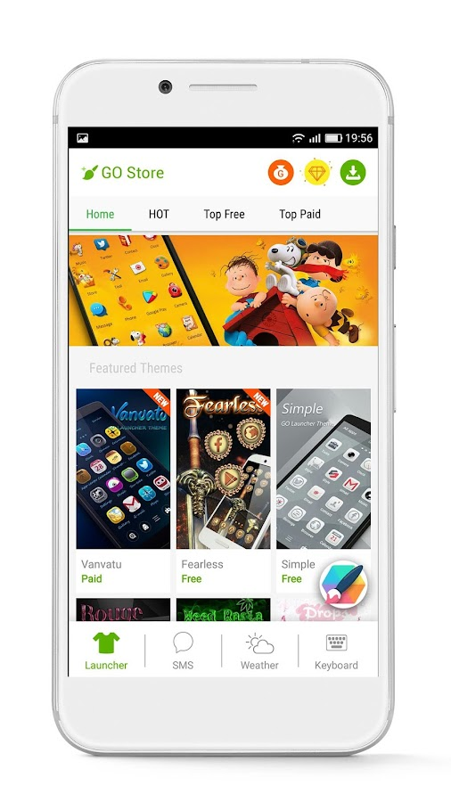 GO Launcher - 3D parallax Themes & HD Wallpapers – kuvakaappaus