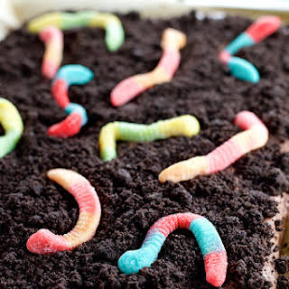 Dirt and Worm Brownies.