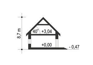 Dom Dla Ciebie 1 w2 bez garażu B - Przekrój