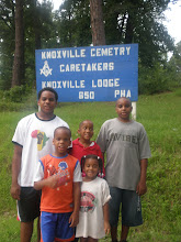 Photo: in front of the cemetery where many of the McClellan's are buried