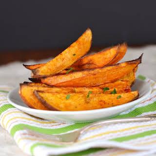 Oven Roasted Sweet Potato Wedges.