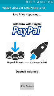 ADA Cardano Crypto Wallet - náhled