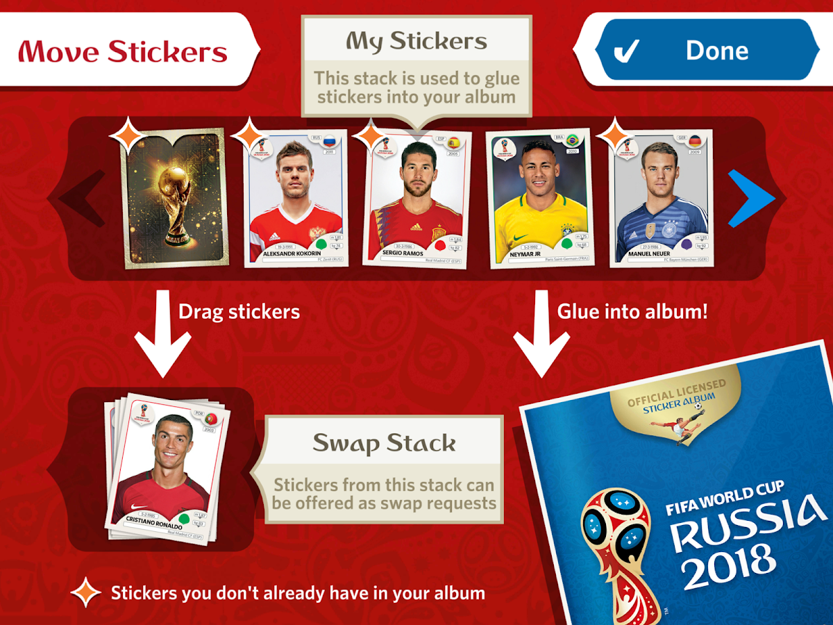 Panini Sticker Album- screenshot