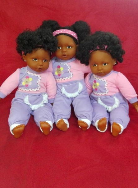 The black dolls manufactured by Girlz Ink