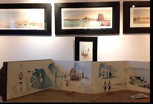 expo aquarelles  Jeanne PAPA_ Apulia, terres de lumières _ 2020