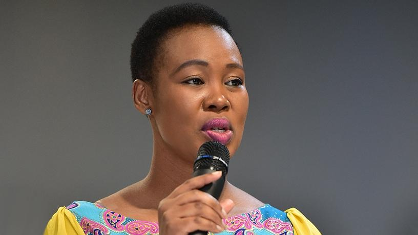 Communications minister Stella Ndabeni-Abrahams.