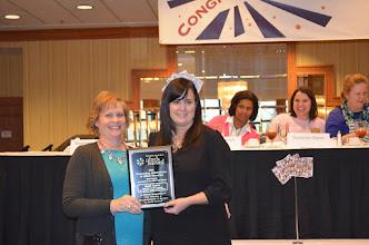 Photo: Suzanne Dixon with AOY Winner, Gubitz