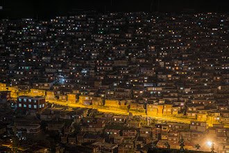 Photo: The first sight of Larung Gar, as we arrived around 21:00 after a long and slow drive from Jiuzhi.