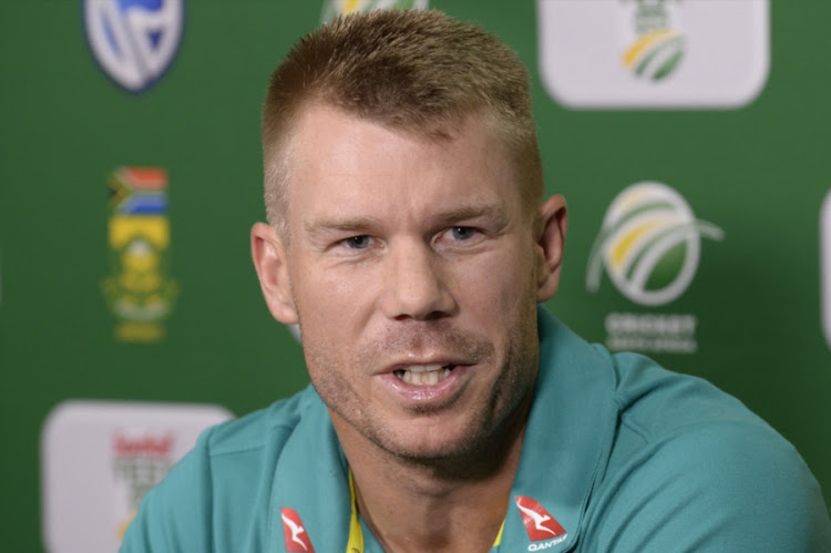 David Warner of Australia during day 1 of the 1st Sunfoil Test match between South Africa and Australia at Sahara Stadium Kingsmead on March 01, 2018 in Durban, South Africa.