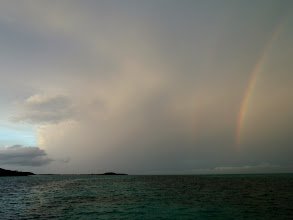Photo: morning thunderstorm over the Berry Islands #1 - June 8, 2013