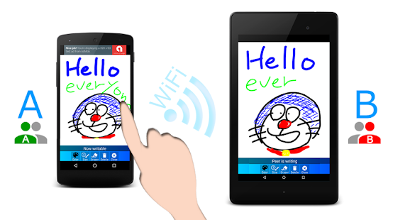 WiFi Whiteboard - náhled