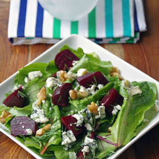 Roasted Beet Salad with Blue Cheese and Walnuts