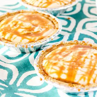 Mini Dulce de Leche No Bake Cheesecakes.