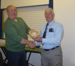 Photo: Memorial Trophy presented by Charles Smith to Tony Brown