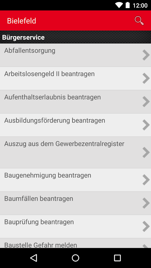 bielefeld b rgerservice android apps on google play. Black Bedroom Furniture Sets. Home Design Ideas
