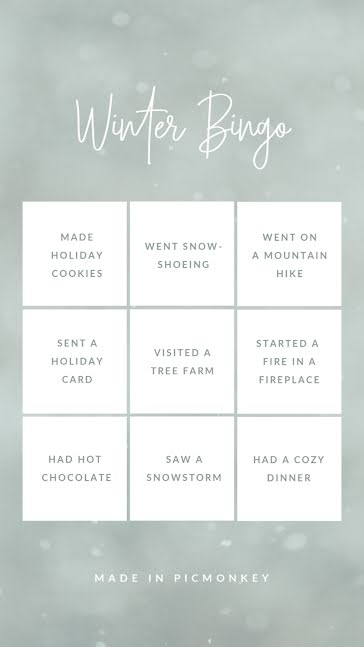 Winter Bingo - Facebook Story Template