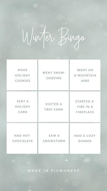 Winter Bingo - Facebook Story template
