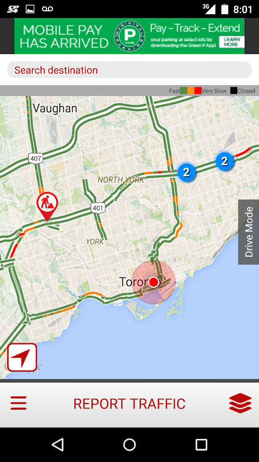 CP24 Traffic Alert- screenshot
