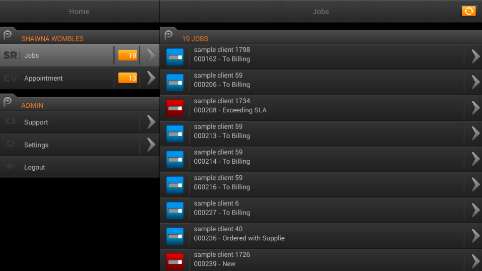 Pulse Business Software- screenshot