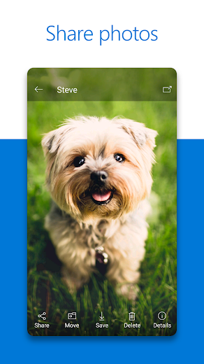 Screenshot 1 for OneDrive's Android app'