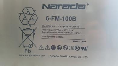 Photo: Narada 6-FM-100B batteries