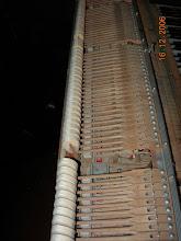 Photo: Piano accordé régulièrement (salle de spectacle) la mécanique est sale, les marteaux auraient du être ponçés depuis longtemps
