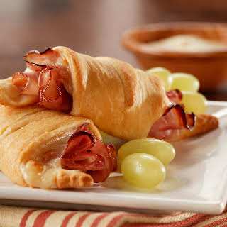 Warm Holiday Ham Crescents.