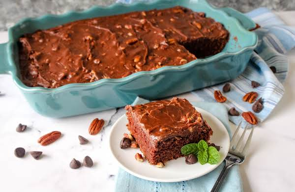 Mom's Dreamy Chocolate Cake Sliced.