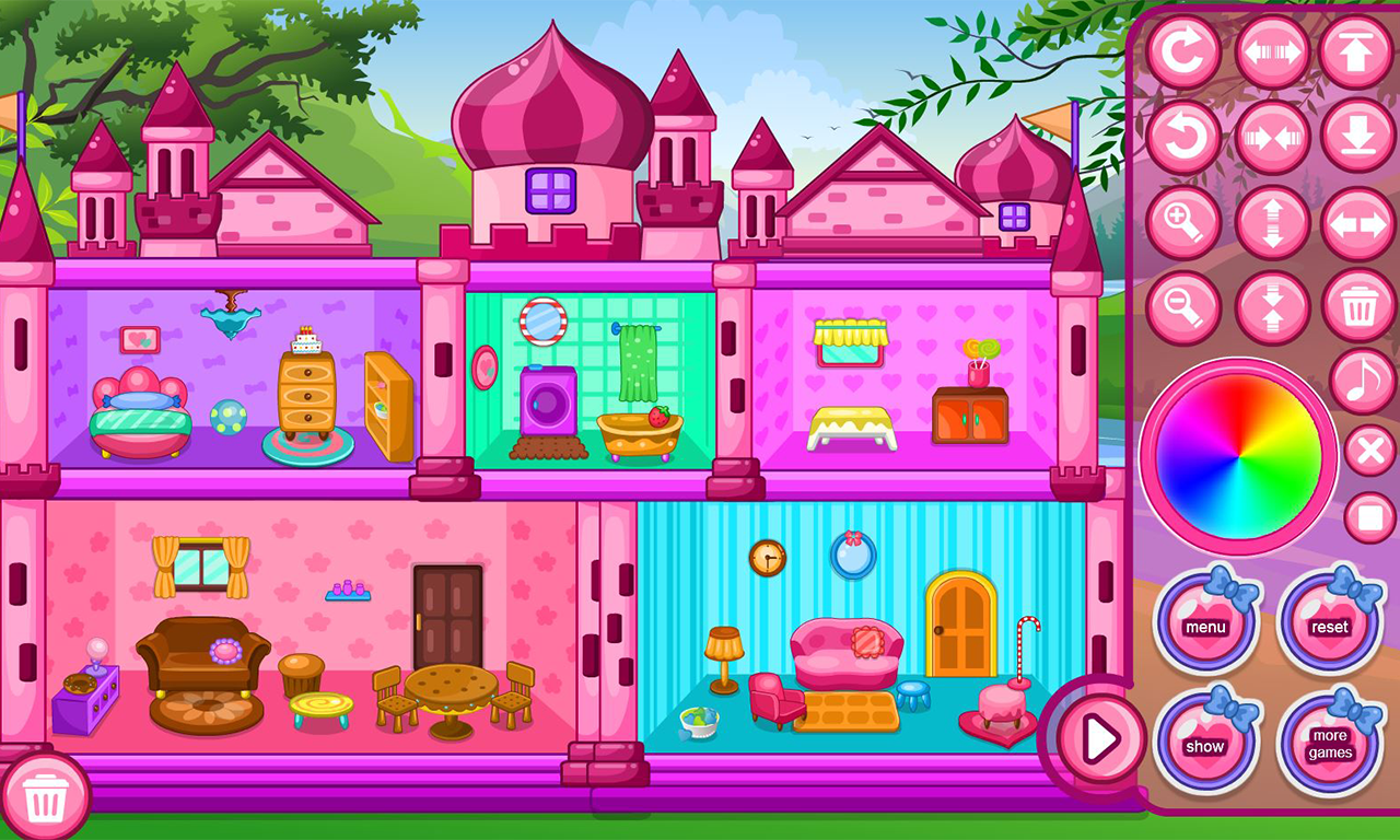 Doll house decoration game android apps on google play for Room design game app