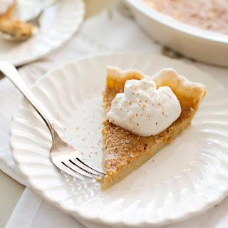 Maple Bourbon Custard Pie