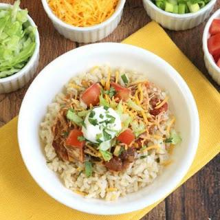 Easy Crock Pot Chicken Burrito Bowls