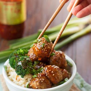 Ginger Glazed Tofu Meatballs.