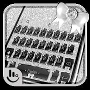 Glitter Silver Black Keyboard Theme