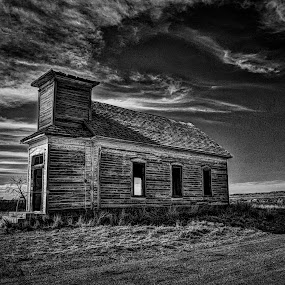 House of God II by Kent Moody - Black & White Buildings & Architecture ( sky, church, black & white, new mexico, abandoned,  )